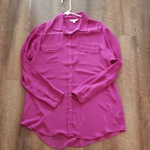 CAbi blouse, fuchsia/translucent